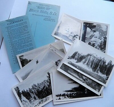 BLACK HILLS, SD ~ Rise Studio ~ 16 Souvenir Real Photo Photographs ~ Vintage