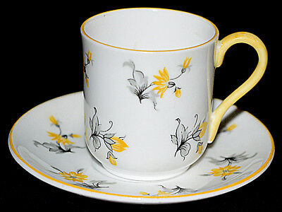 Shelley Charm Yellow Trim Miniature Cup and Saucer Set (Canterbury Shape)