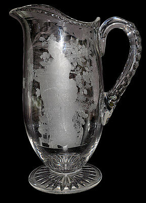 Fry Japanese Maid Etch #4 Footed Jug / Pitcher RARE