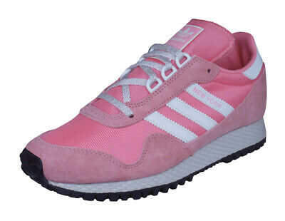 adidas Originals New York Trainers Retro Casual Suede Shoes Pink - RRP £79.95