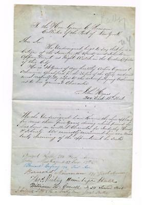 Vintage Letter of Application for Employment as Night Watch & Reference Names