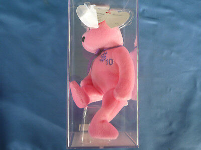 TY BEANIE BABIES  BILLIONAIRE Number 10 AUTHENTICATED Sealed Plastic RARE BABY