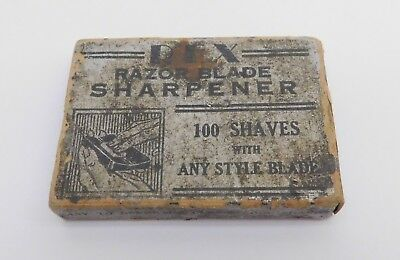 Antique REX Razor Blade Sharpener Hone for Safety Razors in (Rough) Box Art Deco
