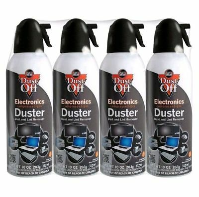 4 pk Falcon Compressed Air Gas Duster Cans Computer Dust Off 10oz Keyboard