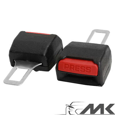 2x Car Seat Belt Alarm Stopper Buckle Insert Clips Extender Safety Eliminator