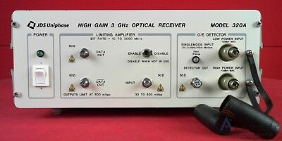 JDS Uniphase 320A-33ST 3 GHz Optical-to-Electrical Receiver