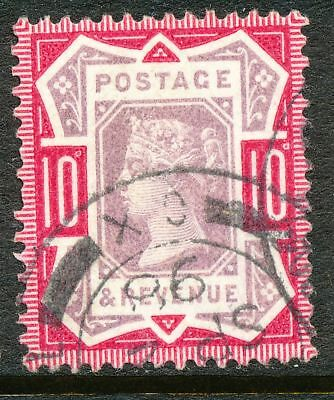 "GB 1898 Queen Victoria Jubilee-Issue 10 D superb used VARIETY  ""o"" instead of""d"""