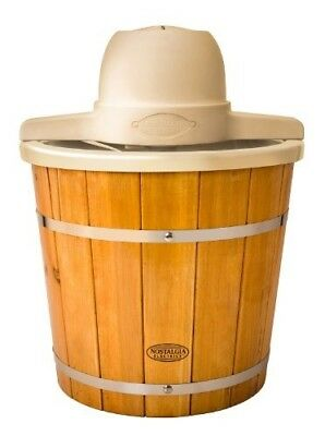 Nostalgia Products Group ICMP400WD 4 qt. Wood Slats Electric Ice Cream Maker