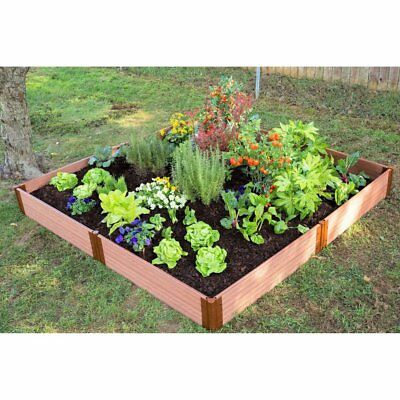 Frame It All 1-inch Series Composite Raised Garden Bed Kit - 8ft. x 8ft. x 11in.