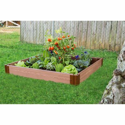Frame It All 1-inch Series Composite Raised Garden Bed Kit - 4ft. x 4ft. x 5.5in