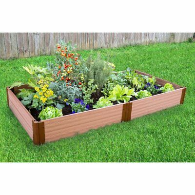 Frame It All 1-inch Series Composite Raised Garden Bed Kit - 4ft. x 8ft. x 11in.