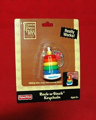 Fisher Price Rock-a-Stack Key Keychain, Keyring (New in Package)