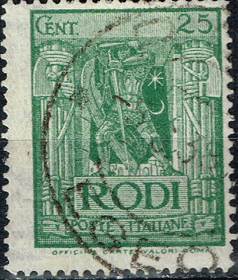 Italy Rhodes Island Mussolini Army Symbols  classic stamp 1925