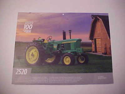 "1968,1969,1970,1971,1972 John Deere ""Model 2520"" NOS calendar photo EZ frame"