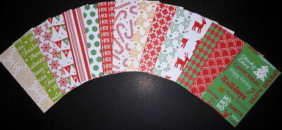 Bright & Colourful Christmas Papers ~ 15cm x 9.5cm ~ - Scrapbooking/Cardmaking