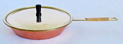 Vintage Brass and Copper Childs Toy Frying Pan and Cover Japan