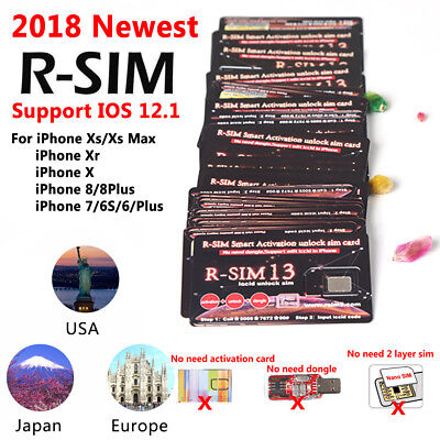Hot RSIM R-SIM 13 SUP Unlock Card For iPhoneXS MAX 4G LTE ios11 12 Sim Card