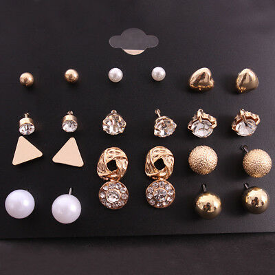 Wholesale A Set Of 12 Pairs Different Style Ear Studs Earrings Allergy free