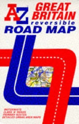 (Good)-AZ Reversible Road Map of Great Britain (Map)-Geographers' A-Z Map Co. Lt
