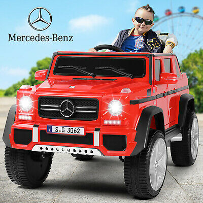 12V Electric Mercedes Benz Kids Ride On Car Red Power Wheels Remote Control MP3