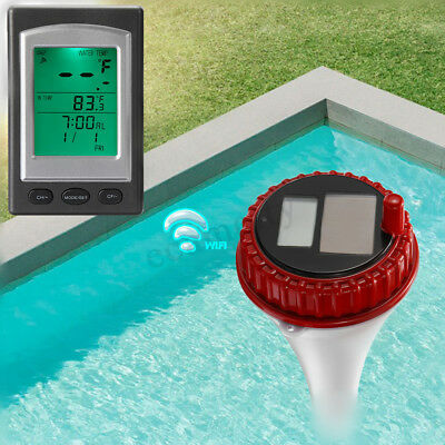 Wireless Solar Digital Floating Thermometer Swimming Pool Waterproof Hot Tub Spa