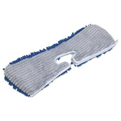 Quickie Manufacturing 18in. Flip & Shine Microfiber Floor Mop Refill Blue & Gray