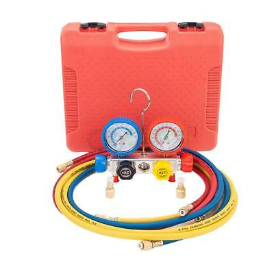NEW HVAC A/C Air Refrigeration Kit AC Manifold Gauge Set Brass R404A R410A R22