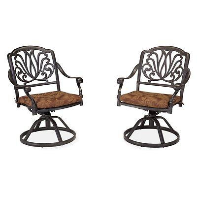 Home Styles Floral Blossom Swivel Chair with Cushion