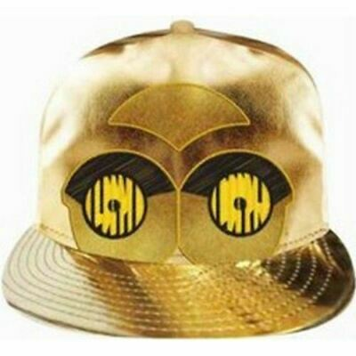 Star Wars C-3PO GOLD METALLIC CAP Hat Unisex Sport Snapback Adjustable c3po New