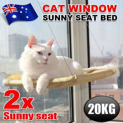 2pcs Cat Window Mounted bed Seat Pets Sunny Hammock Cover Washable