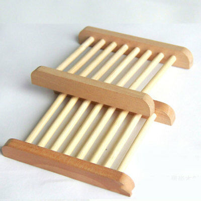 Wooden Natural Bamboo Soap Dish Tray Holder Storage Soap Rack Plate Boxcontainer