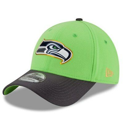 New Era Seattle Seahawks Neon Green/Graphite Gold Collection On Field 39THIRTY
