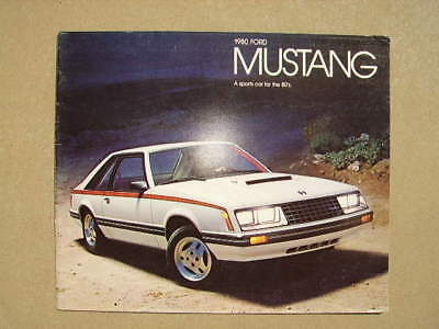 1980 Ford Mustang  Dealer Sales Brochure