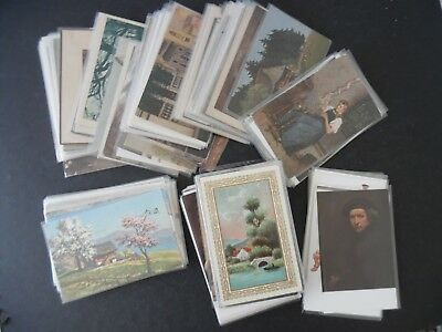 Lot of 175 Art Postcards Mostly Antique Vintage Early 1900s