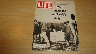 1963 Life Magazine February 15  Lincoln's Body ? High Grade Lowest Price On Ebay