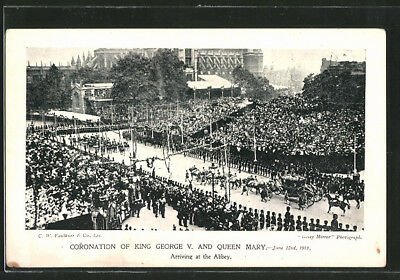 AK Coronation Of King George V. and Queen Mary 1911, Arriving at the Abbey