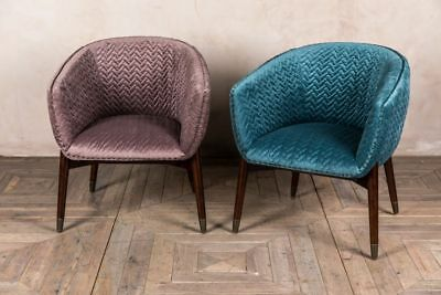 Bavaria Velvet Tub Chair Quilted Armchair Available In Two Colours