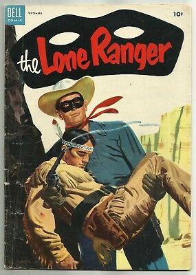 THE LONE RANGER #75 (Beautiful Painted Cover, Western Comics) Dell, 1954