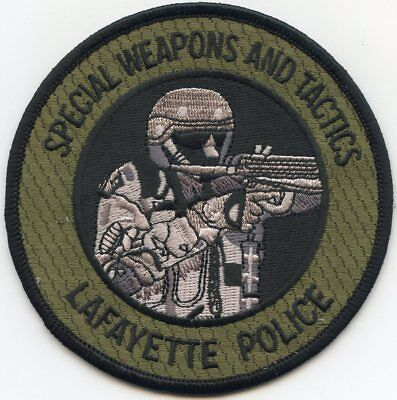 LAFAYETTE INDIANA IN Special Weapons And Tactics SWAT POLICE PATCH