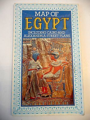 Map of Egypt   including Cairo and Alexandria Street Plans   1988