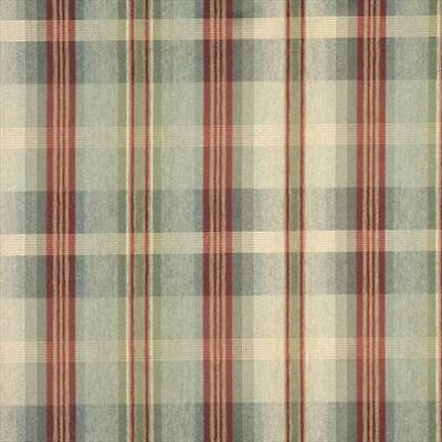 Designer Fabrics 54in. Green Blue And Red Plaid Chenille Upholstery Grade Fabric