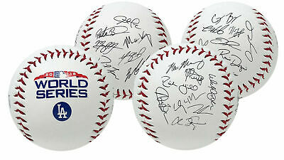 Rawlings Los Angeles Dodgers 2018 MLB World Series Autograph Roster Baseball