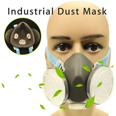 ☆ Anti Dust Respirator Gas Safety Face Mask Dual Filter Chemical Ash Spray Paint