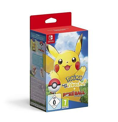 Nintendo Switch - Pokémon: Let's Go, Pikachu! + Pokéball Plus - NEU - OVP