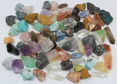 1/4 lb MINIATURE Crafters Collection Gems Crystals Natural Raw Minerals (4 oz)