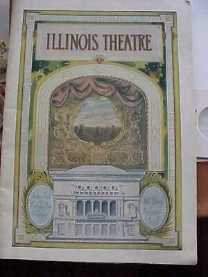 """1910-20,s Booklet  ILLINOIS THEATRE & ADVERTISEMENT OF THE TIME  5 1/4"""" x 7 1/2"""""""