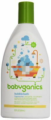 Babyganics Extra Gentle Bubble Bath and Body Wash, Fragrance Free, 20 oz