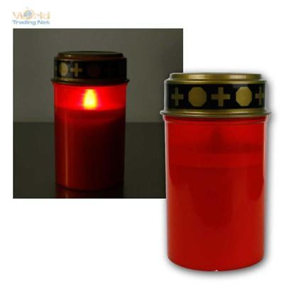 Grave Light with Flickering Led, Electric Candle, Grab-Laterne, Battery Mode