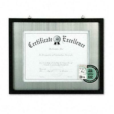 Dax N15788ST Contemporary Wood Document/Certificate Frame Silver Metal Mat 11...