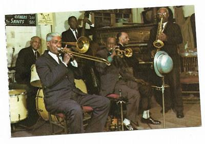 Vintage Louisiana Chrome Postcard New Orleans Jazz Band Bourbon Street